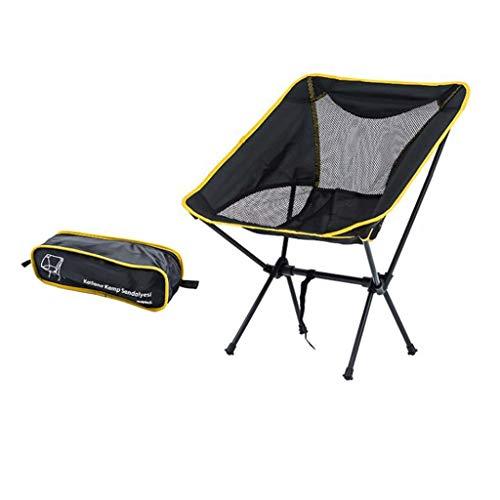 JYQ-SZRQ Silla de Camping Plegable Al Aire Libre sillas portátiles Silla con Mochila de Peso Ligero de la Luna con Bolsa de Transporte for Festival de Ocio Viajes Playa de Servicio Pesado 120 kg