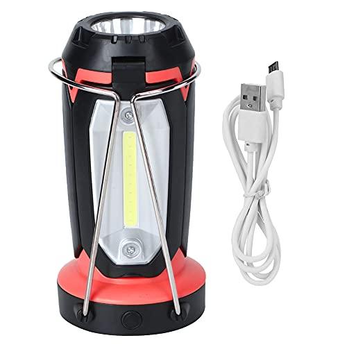 Bediffer Lámpara de campo, Diseño plegable Camping Luz Campamento Luz Amplia Aplicación para Pesca de Noche para Camping (rojo)