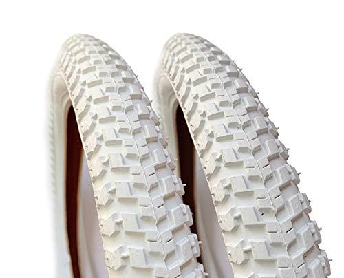 mächtig ASC 16 x 2.125 weiße Fahrradreifen, Kinderfahrräder, Straßenprofile, Easy Riding, 2 Stück