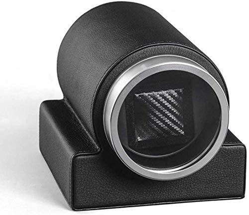 Remontoir de Montre Automatique Box Single Watch - Remontoirs de Montre compacts pour Montres automatiques Moteur Super Silencieux-Noir Well