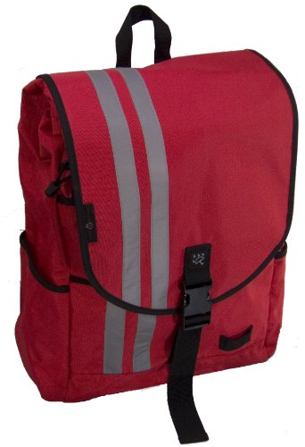 Banjo Brothers Commuter Backpack (Medium, Red)