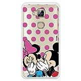 Funda para Huawei G8 Oficial de Clásicos Disney Mickey y Minnie Lunares Rosas para Proteger tu móvil. Carcasa para Huawei con Licencia Oficial de Disney.
