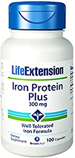 Life Extension Iron Protein Plus, 100 Capsules (Pack of 2)