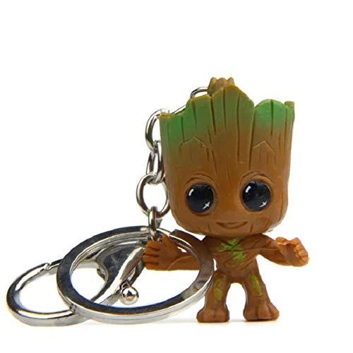 WMY 4Pcs Baby Tree Man Grooted Actionfigur Puppenspielzeug Mini Guardians of The Galaxy Treeman Babyfigur Auto Schlüsselbund Modell Statue, 4Pc