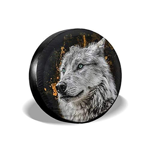 Cubierta Del Neumático De Repuesto Cubierta De La Rueda Del Neumático Moon Amazing Wild Wolf Poliéster Protector Solar Universal Fundas De Rueda Impermeables Para Muchos Vehículos 14 15 16 17 Pulgadas