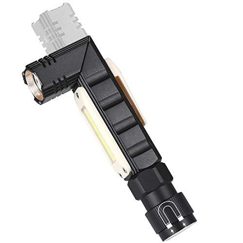 HooAMI LED Stirnlampe USB Wiederaufladbar Kopflampe Superheller Kopfleuchte mit 5 Lichtmodi 90 Grad einstellbare Taschenlampe mit Magnetischem Schwanz für Arbeit Laufen Angeln