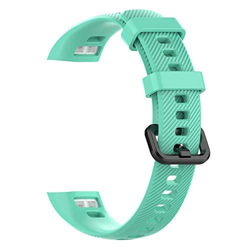 NOENNULL Correa de reloj de silicona suave pulsera de repuesto para Huawei Band 3 Pro y banda 4 Pro