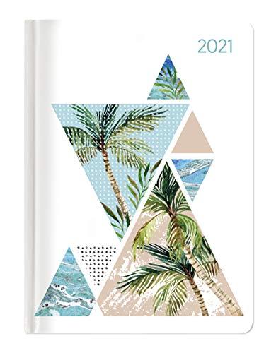 Alpha Edition - Agenda Giornaliera Style 2021, Formato Tascabile 10,7x15,2 cm, Palme, 352 Pagine
