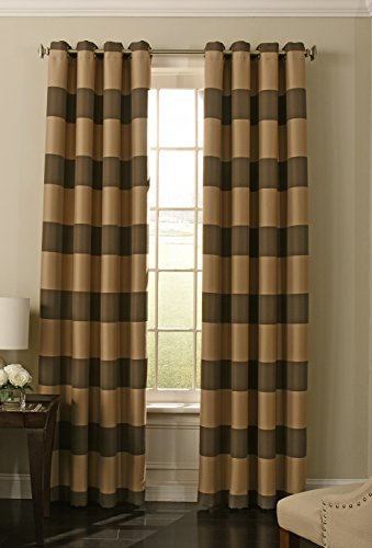 "BEAUTYREST 52"" x 108"" Insulated Darkening Single Panel Grommet Top Window Treatment Living Room, Chocolate"