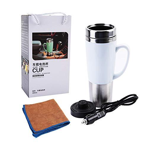 Fdit 12V elektrische watergeïsoleerde autobeker reis verwarming schaal ketel voor hete koffie melk thee meerweg verpakking