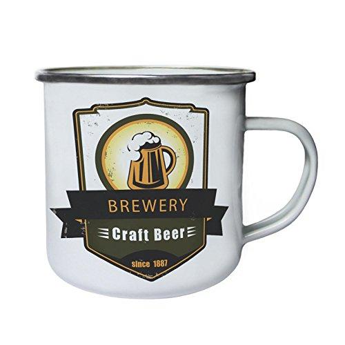 Craft Beer Brewery Vintage desde 1887 Retro, lata, taza del esmalte 10oz/280ml...
