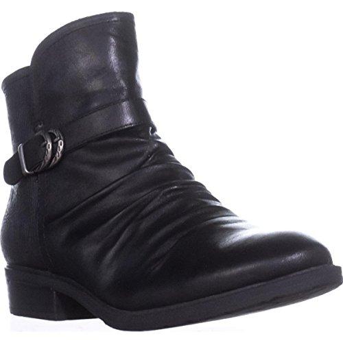 Price comparison product image BareTraps Womens Ysidora Almond Toe Ankle Fashion Boots Black Microfib Size 8.0 M US