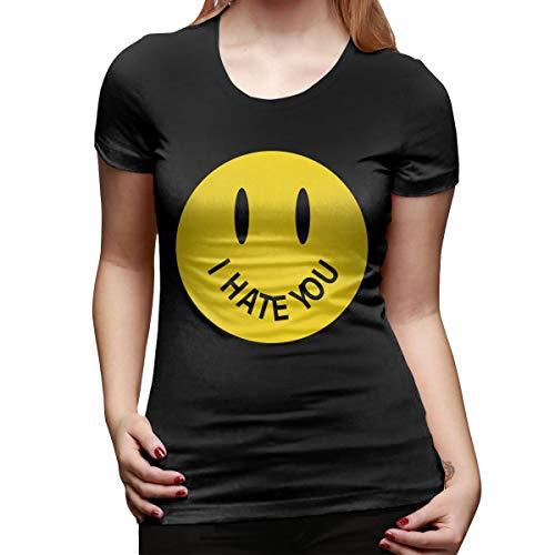 WoodWorths I Hate You Womens Short Sleeve T Shirt Tees Sport Summer(XX-Large,Black)