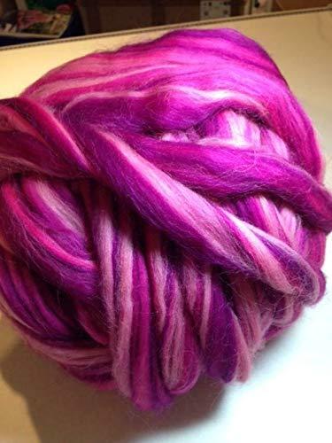 100 g Kammzug ++ Bandwolle ++ multicolor-pinktöne+ zum Filzen, Spinnen, XXL-Stricken + EUR 7,00/100g