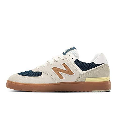 New Balance mens All Coasts 574 V1 Sneaker, White/Gold, 5.5 US
