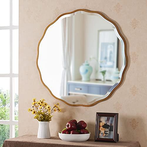 MOTINI 32' Round Beveled Mirrors Wall Mounted Gold...