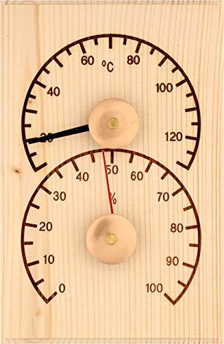 Weigand Klimamesser SCHLICHT I Thermometer und Hygrometer Kombination I Messinstrument I Sauna I Zubehör I 319208 I X0012V1ZKD