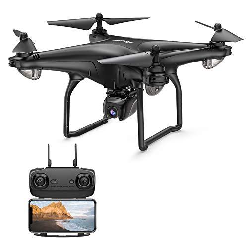 Potensic D58 GPS Drohne RC Quadrocopter mit 1080P HD Kamera, 120° Weitwinkel, 5G WiFi FPV Live Übertragung, Automatisch Rückkeh, Follow Me, Orbit-Modus, längere Flugzeit für Anfänger / Experte Schwarz