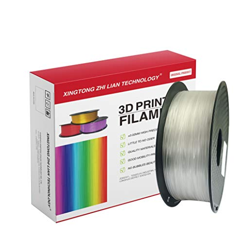 Filamento de Impresora 3D, Precisión Dimensional +/- 0.02 mm, 1kg Carrete, PLA Blanco Filamento 1.75mm PLA impresora 3D filamento PLA metal color filamento PLA Filamento de seda color (transparente)