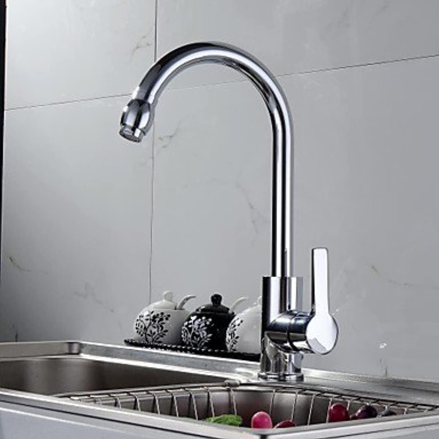 Axiba Contemporary Solid Brass Kitchen tap - Chrome Finish