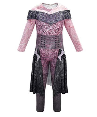 Halloween Kostüm für Mädchen Erwachsene, Nachkommen 3 Classic Jumpsuit Cosplay Kostüm 3 Audrey Kostüm Overall Halloween Kostüm für Mädchen Cosplay Kostüme (lila, 11-12 T)