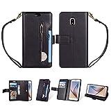 CellphoneParts BZN Étui multifonction à rabat horizontal en cuir avec fermeture éclair et 9...