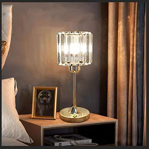 YINGBBH Lámpara de Escritorio Crystal Dormitorio Lámpara de Mesa Negro Golden Desk Light Night para Sala de Estar Sala de Estudio Decoración de Noche Iluminación