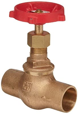 "Milwaukee Valve 1502 Series Bronze Globe Valve, Class 125, Inline, Threaded Bonnet, 3/8"" Solder End by Milwaukee Valve"