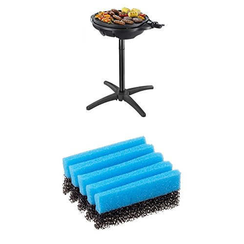 George Foreman Indoor and Outdoor Grill 22460 - Black & George Foreman Cleaning Sponge 12207 - Blue, Pack of 2