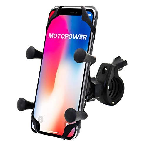 MOTOPOWER Fahrrad Motorrad Handy Halter - Für jedes Smartphone & GPS - Universal Mountain & Road Fahrrad Motorrad Lenker Cradle Halter