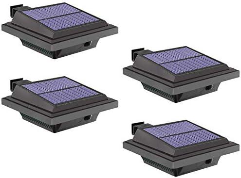 Solar Gutter Light LED Gutter Light 40 LEDs 2W Light Sensing Black Cold White Light Set of 4Pcs product image