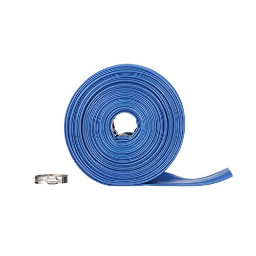 Blue Devil 75-Foot Backwash Hose for Pool with Hose Clamp, 2