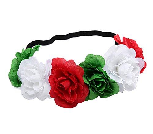 Love Sweety Rose Flower Headband Floral Crown Mexican Hair Wreath (Christmas)