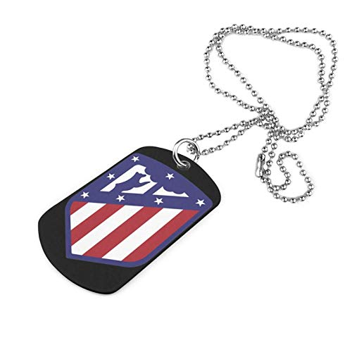 Shanghao Atle-Tico Mad-Rid Football Club Collar Militar de Acero Inoxidable Etiqueta de Perro Colgante de joyería