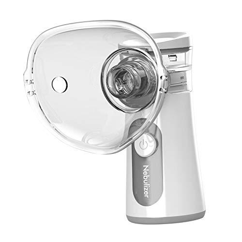 Gazechimp Nebulizador de Inhalación Portátil de Mano, Inhalador Silencioso, Nebulizador, Inhalador para Niños Y Adultos - Gris, Individual
