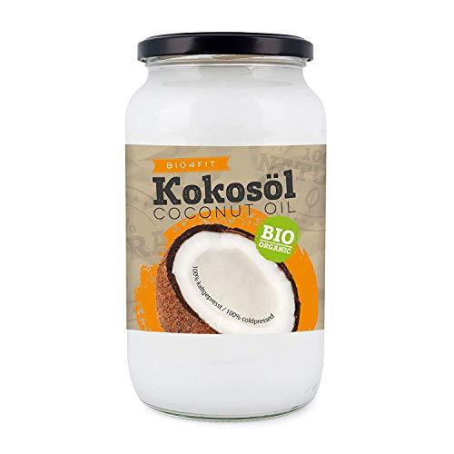 Bio4Fit Aceite De Coco, Nativo, 1 Paquete (1 X 1000 ml) En Un Vaso 1000 ml