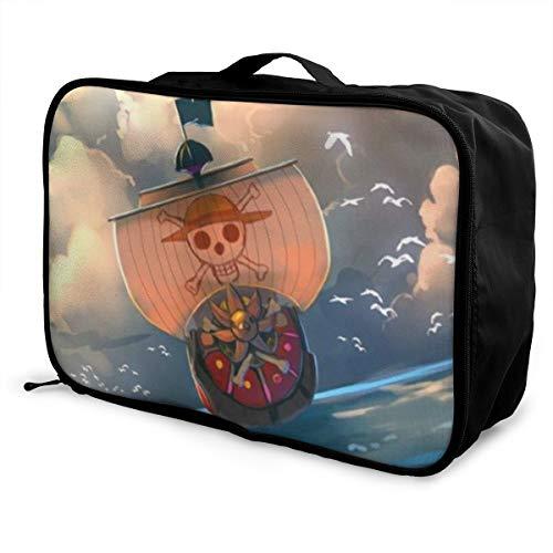 Reisetasche mit Strohhut und Piraten, wasserdicht, modisch, leicht, große Kapazität, tragbar