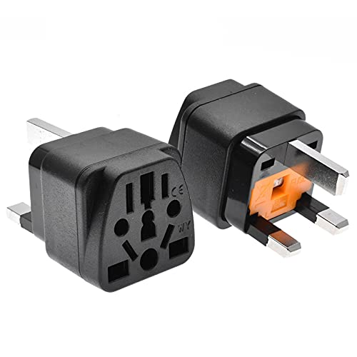 Csy 2 PCS Multi-Country Universal To UK Outlet Plug, Universal Travel Plug, Plug Converter, Universal Travel Tap