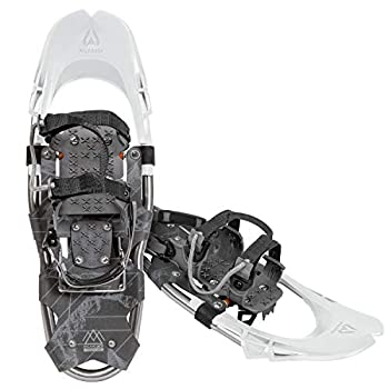 Wildhorn Delano Snowshoes for Women and Men Lightweight Adjustable Binding All-Terrain TPU Cold Resistant Aluminum Frame Snow Shoes Arctic White 28