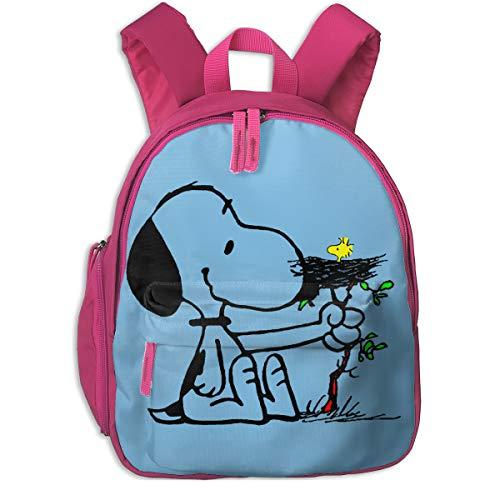 淳楽 Snoopy スヌーピー 子ども用バッグ リュックサック バックパック キッズリュック バッグ ショルダーバック キッズバッグ おしゃれ 軽量 幼稚園 子供用 デイパック Pink