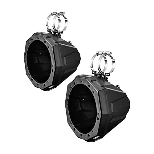 Wishful Accesorios para altavoces UTV ATV de 6.5 pulgadas, abrazaderas de 1.5 a 2 pulgadas, aptas para Polaris RZR 800 900 1000 XP apto para Can Am Maverick X3 (color: recinto de altavoz)