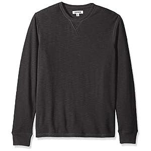 Men's Long-Sleeve Slub Thermal Crewneck Sweatshirt Pullover