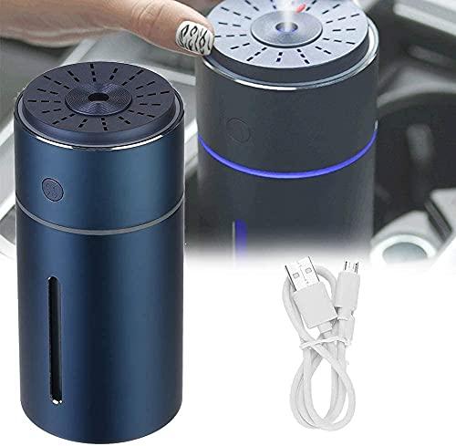 NFRMJMR Umidificatori di diffusore Auto, Portatile USB Diffusori di Olio Essenziali con 7 Colori, PORTATO Luci 800ml Adattatore di Grande capacità per casa, Veicolo, Blu (Color : Blue)