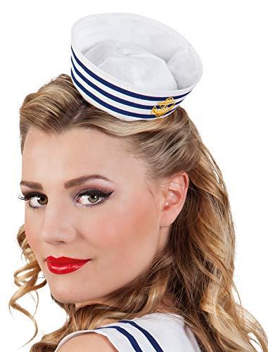 Das Kostümland Matrosen Sailor Mini-Hut mit Haarreif für Damen