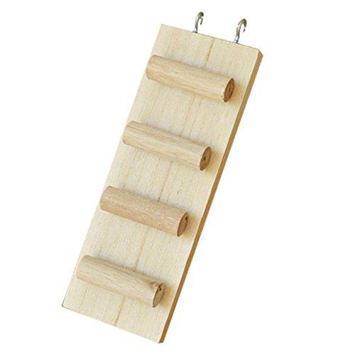 aus Holz, für Hamster, Leiter, 3Sprossen, vier Stile | für syrische Goldhamster, Rennmaus, Ratte, Maus, Chinchilla, Meerschweinchen, Eichhörnchen, kleine Tiere, Käfig-Spielzeug