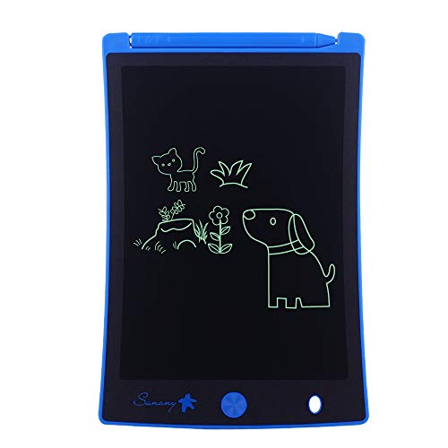 "LCD Writing Tablet,Electronic Writing &Drawing Board Doodle Board,Sunany 8.5"" Handwriting Paper Drawing Tablet Gift for Kids and Adults at Home,School and Office, Blue"