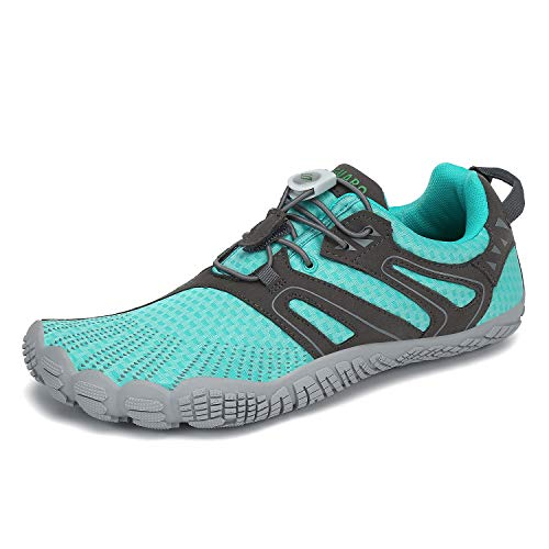 SAGUARO Mens Womens Barefoot Minimalist Trail Running Shoes Outdoor Sports Walking Jogging Gym Fitness Zero Drop Quick Dry Breathable Water Sneakers Blue 10 Women/8 Men