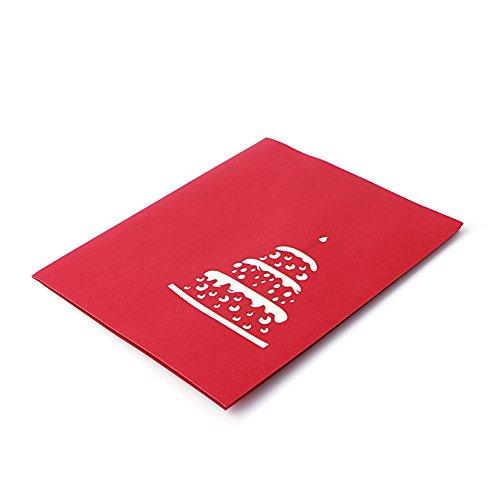 suoryisrty Dekoration Handwerk, 3D Grußkarte handgemachte Geburtstag Valentinstag Weihnachten Hochzeitseinladung