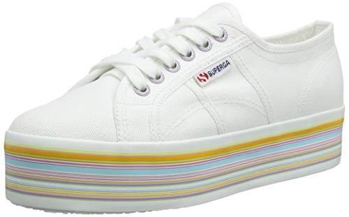 Superga 2790-Multicolor COTW, Sneaker Donna, 37 EU, Bianco (White Multicolor G78)