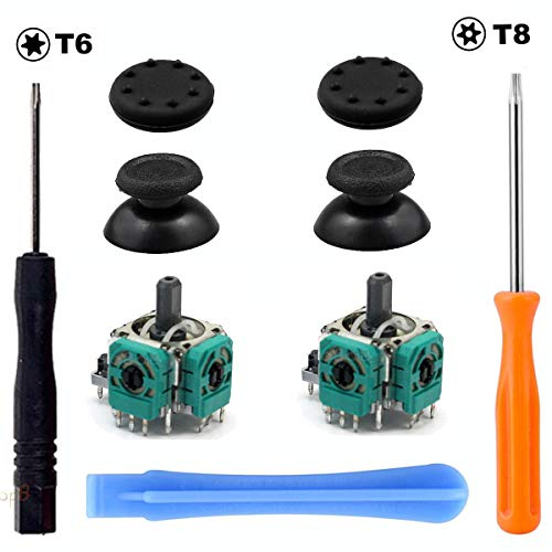 2x 3D Joystick Analog Thumbstick Grips Open Screwdriver for Xbox One Controller
